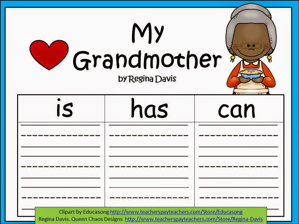 http://www.teacherspayteachers.com/Product/A-Grandma-Grandmother-or-Insert-A-Special-Name-Three-Graphic-Organizers-1204963