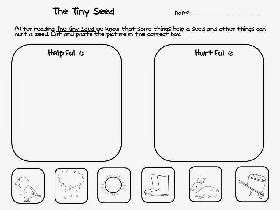 April 2014 The Science School Yard – The Tiny Seed Worksheets