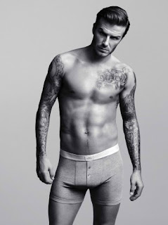 David Beckham Topless
