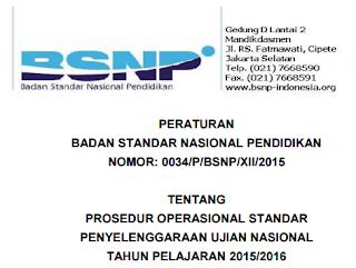 POS UJIAN NASIONAL TAHUN PELAJARAN 2015/2016