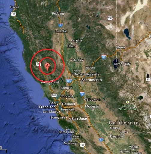 Cobb, California earthquake 2013 December 20