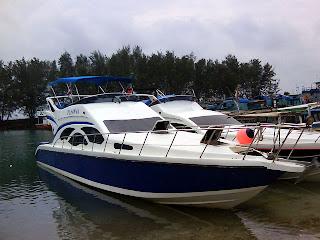 paket pulau tidung dengan kapal cepat speedboat dari Marina Ancol