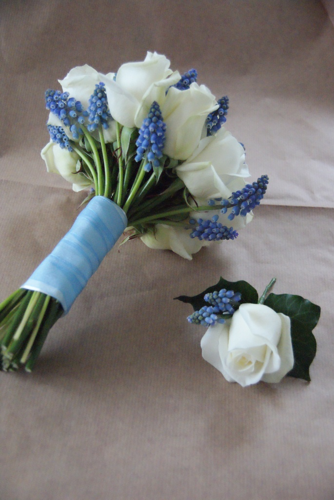 White Wedding Flowers March : Flowers by vicki beautiful blue and white wedding