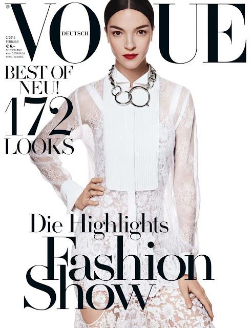Fashion Model, @ Mariacarla Boscono - Vogue Germany, February 2016
