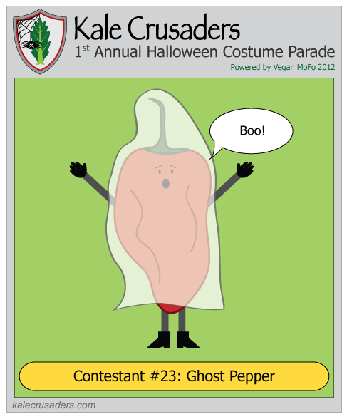 Contestant #23: Ghost Pepper, Kale Crusaders 1st Annual Halloween Costume Parade, Powered by Vegan MoFo 2012