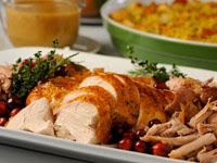 Lemon Herb Salted Turkey and Golden Roasted Turkey Stock