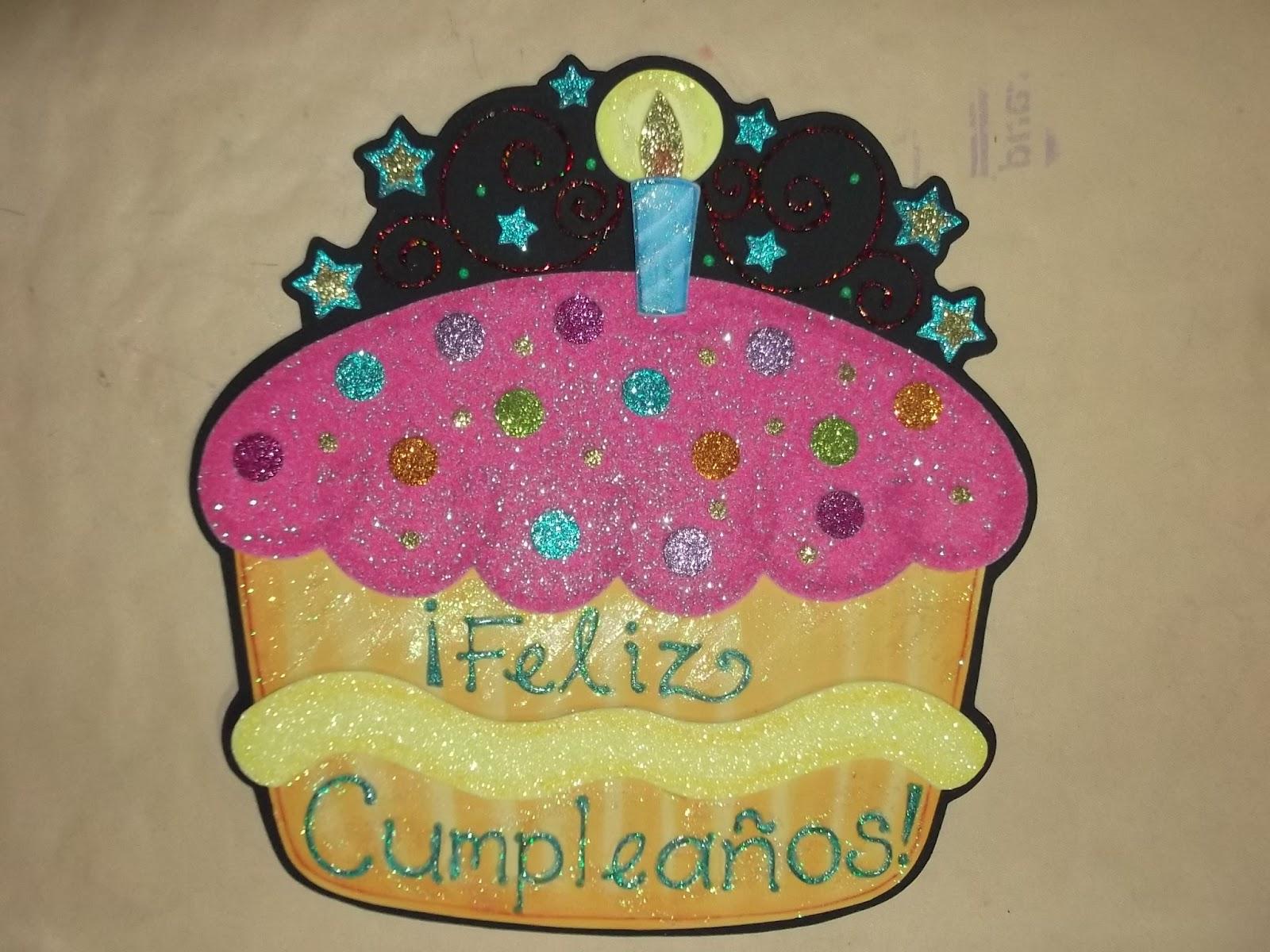 Torta de cumpleaños en foami - Imagui