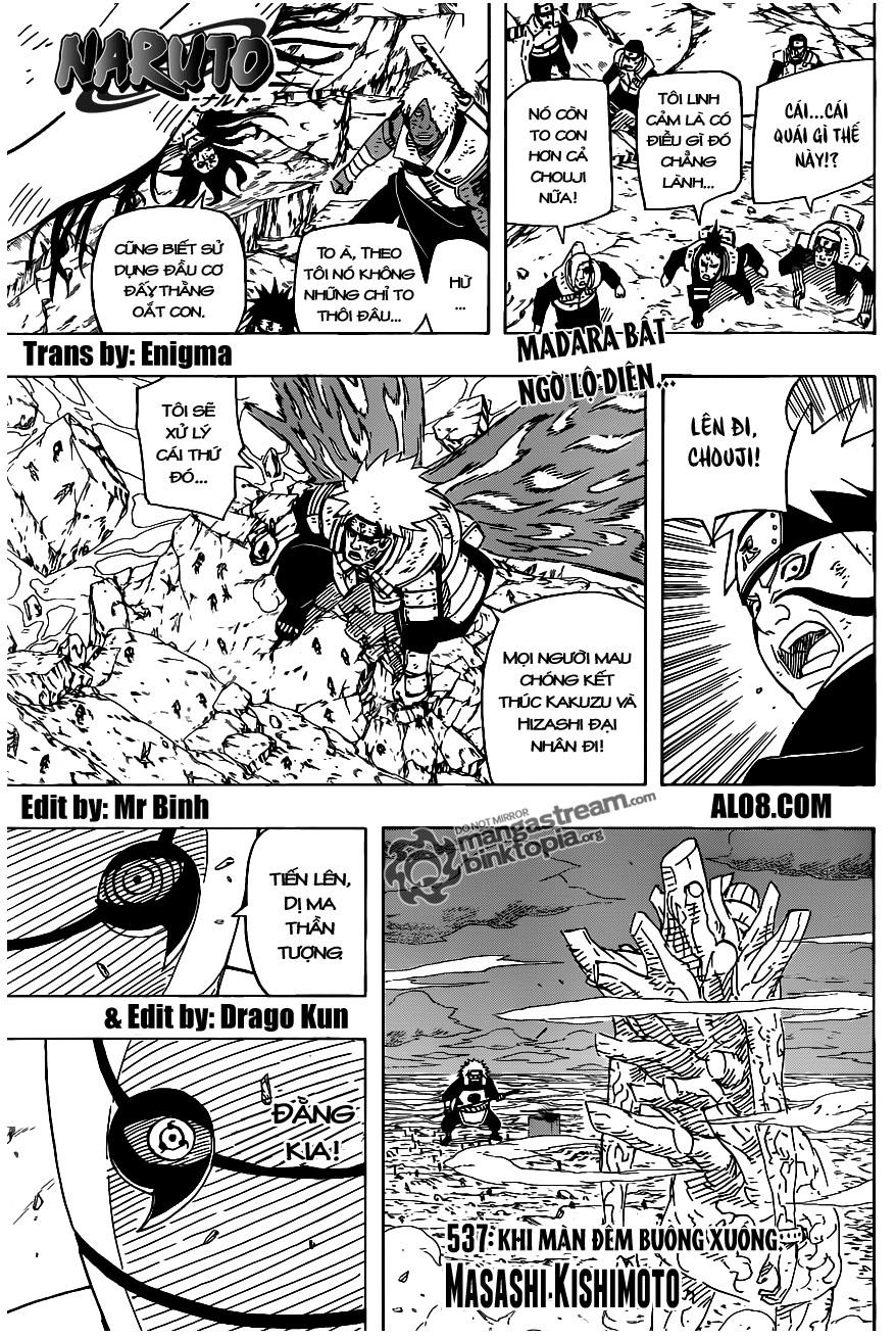 Naruto chap 537 Trang 1 - Mangak.info