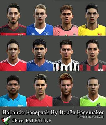 PES 2013 Bailando Facepack By Bou7a Facemaker