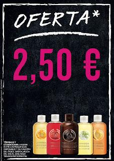 GELES DE BAÑO A 2.50€ EN THE BODY SHOP