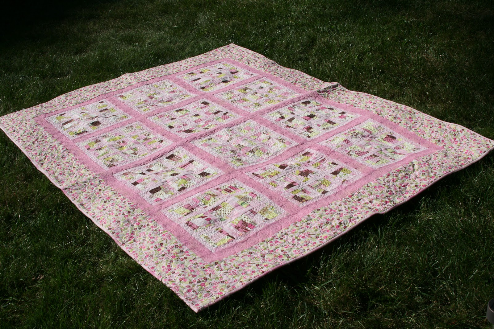 A Quilting Jewel: Tutorial - Charmingly Crazy Nine Patch Quilt