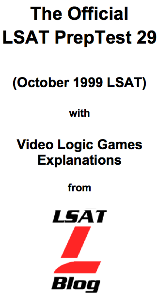 LSAT Blog PrepTest 29 October 1999 LSAT PDF