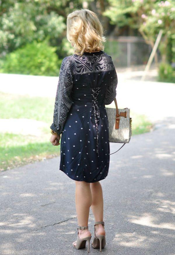 Fall Fashion - shirt dress and heels
