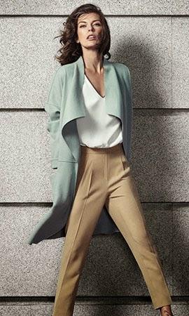 moda otoño de El Corte Inglés campaña con la modelo Milla Jovovich