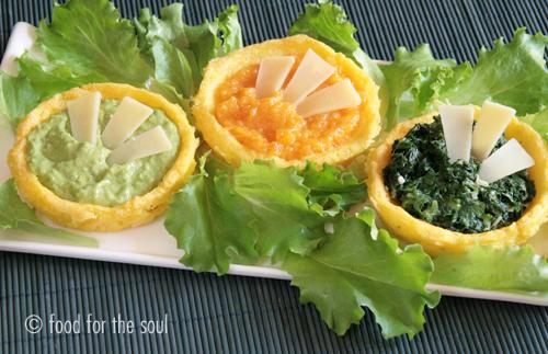 mini-quiche di polenta alle verdure per