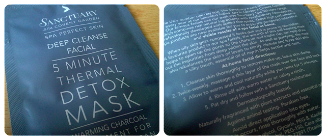 Sanctuary 5 Minute Thermal Detox Mask review