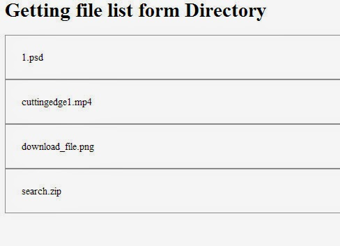 get file list from directory