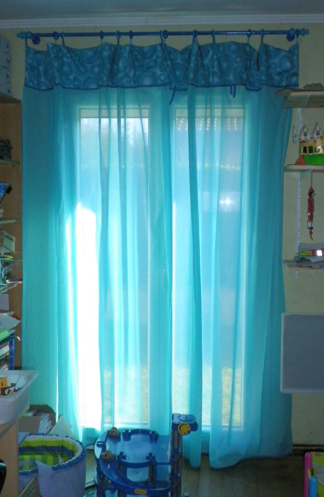 les bricol 39 d 39 la tortue rideaux turquoise. Black Bedroom Furniture Sets. Home Design Ideas