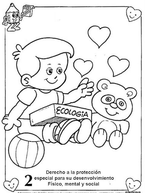 Laminas para colorear derechos y deberes de los niños - Imagui