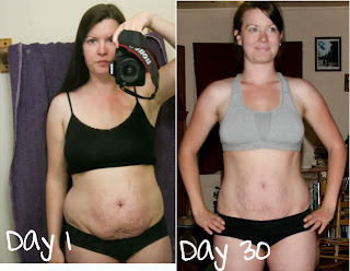 my result using Jillian Michaels 30 day Shred