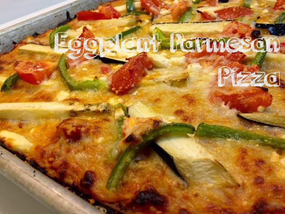 Eggplant-Parmesan Pizza
