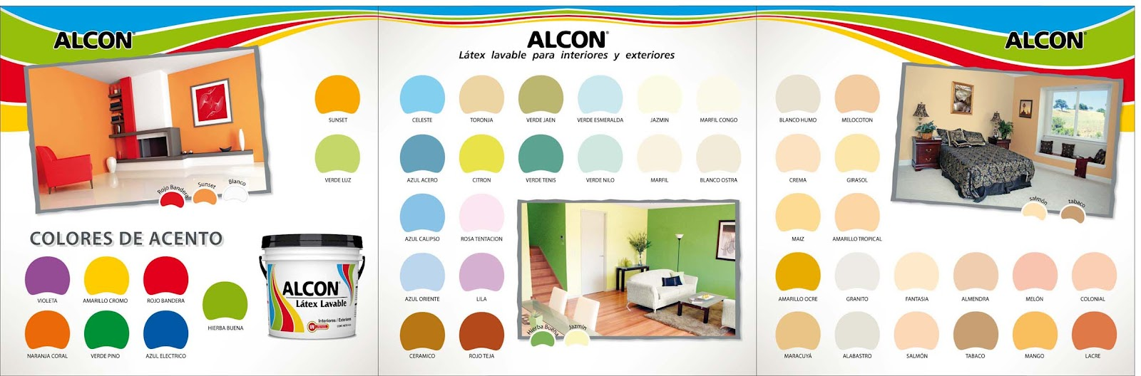 Catalogo de colores pinturas alcon arte dise o y for Catalogo de pinturas