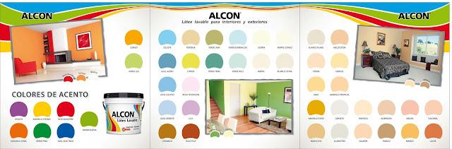 Catalogo de colores pinturas alcon arte dise o y for Catalogo de colores de pinturas