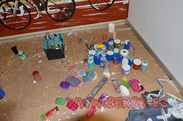 pinturas utilizadas para realizar el mural
