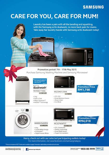 Samsung activ dualwash Mother s Day Promotion