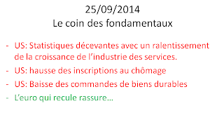 news économiques et boursières 25/09/2014