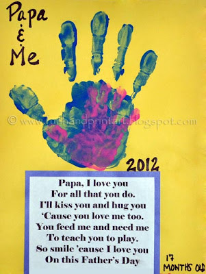 Papa &amp; Me Handprints with poem