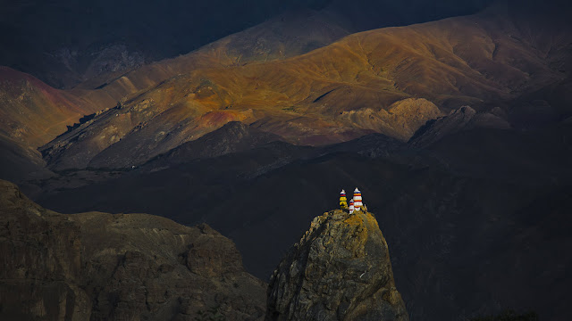 Mulbekh Monastery in the Zanskar region of Ladakh, Jammu and Kashmir, India (© Lethang Photography/Getty Images) 692