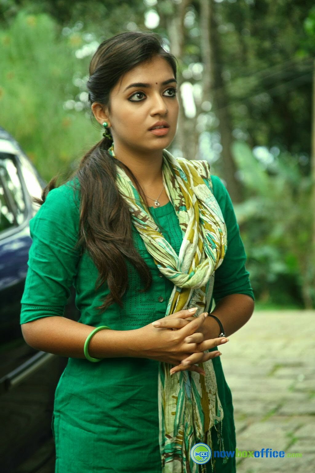 Official website of malayalam movie actress nazriya nazim nazriya in green tops altavistaventures Gallery