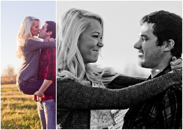 boyfriend holding up girlfriend kissing