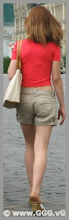 Girl wearing grey cotton shorts