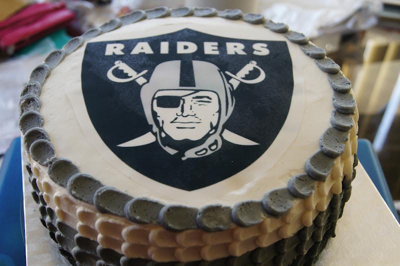 The Novice Goddess Kitchen Oakland Raiders Birthday Cake