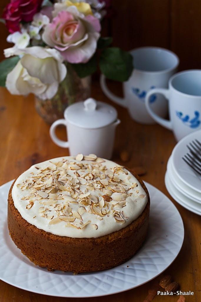 Carrot eggless cake recipe