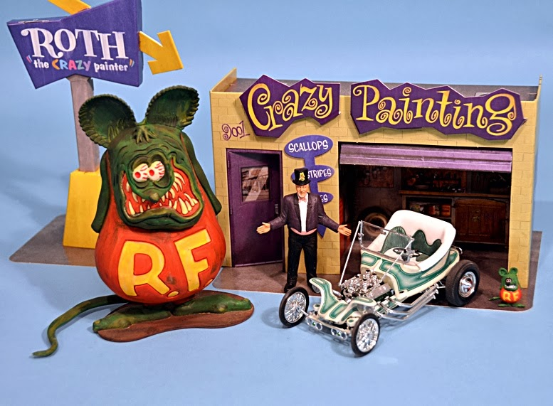 Scale Model News Ed Big Daddy Roth From Revell Rat Fink Figure