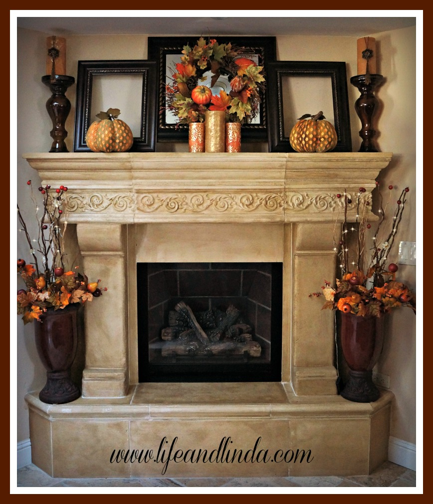 Thanksgiving decor mantle - Still Woods Farmhouse
