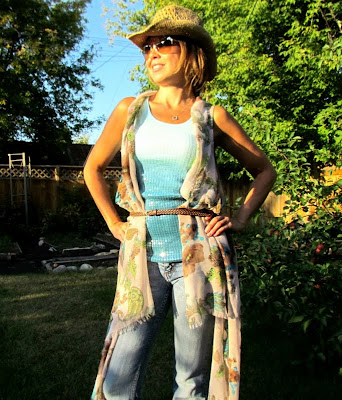 DIY Vest, Easy Sewing Project, Scarf to vest, Scarf project, Easy Sewing, Deconstructed