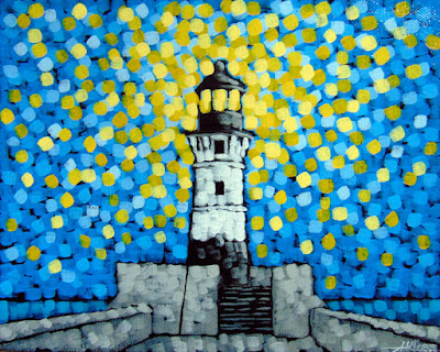 Duluth MN Lighthouse Painting, Siiviis Gallery, Aaron Kloss ARtwork
