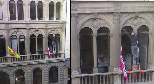 Hombre muere antes que la mujer - limpia ventanas