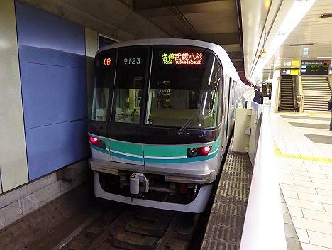 東急目黒線 各停 武蔵小杉行き1 東京メトロ9000系(2015元旦終夜運転)
