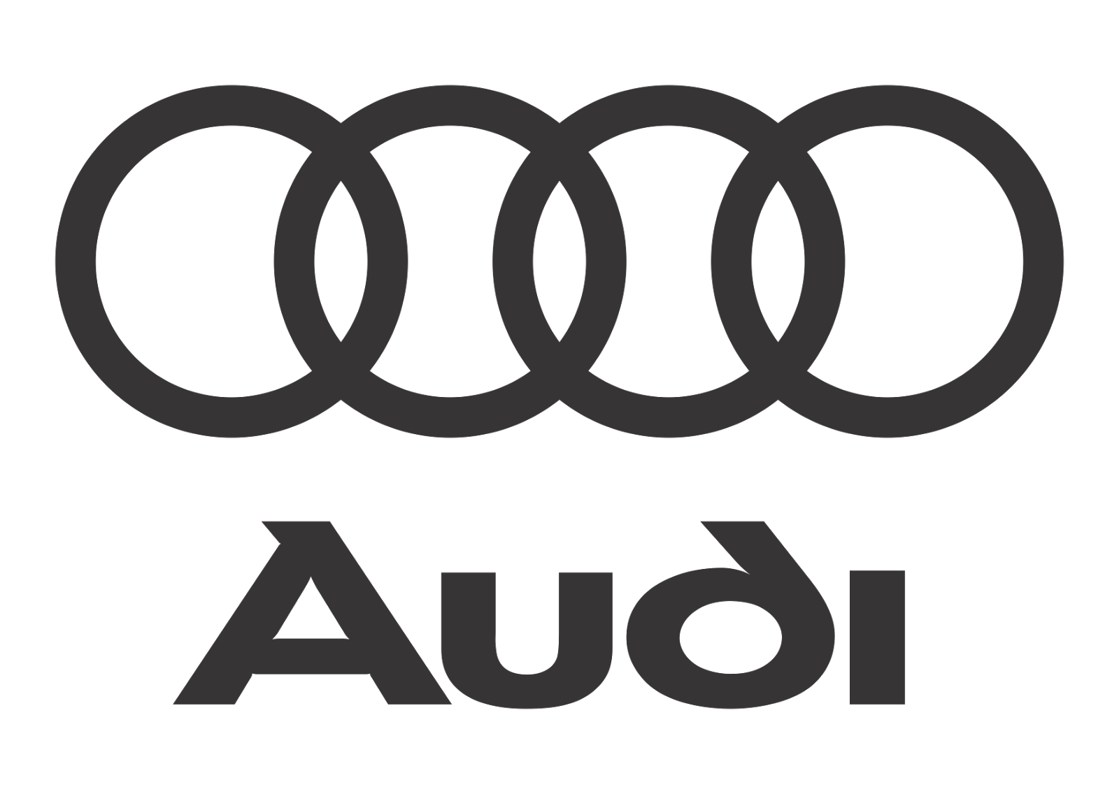Audi Logo Vector (Black White) download free