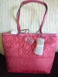 COACH SIGNATURE STRIPE STITCHED TOTE 17668