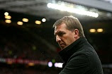 Liverpool Manager Brendan Rodgers looks on prior to the  Premier League match between Manchester United and Liv …