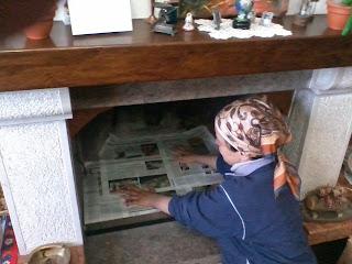 Pulin di nonna gemma come creare un presepe nel caminetto for Come costruire un camino di adobe