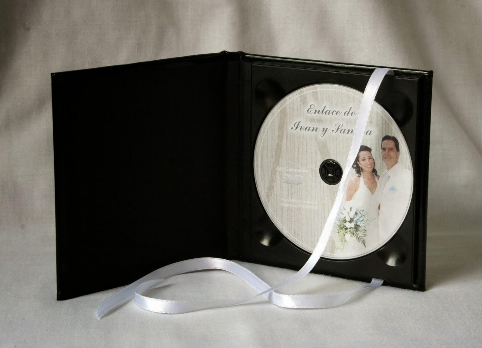 Estuche para 1 DVD  Charol Negro abierto