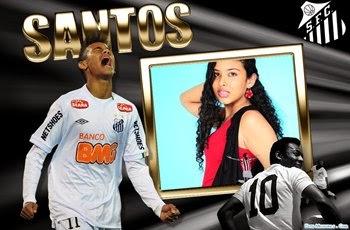 Adicionar foto em Moldura Santos Neymar