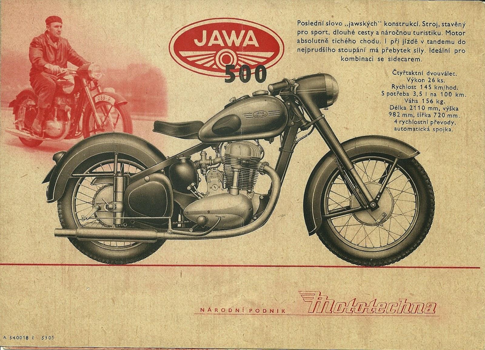Ulotka reklamowa Jawa 500
